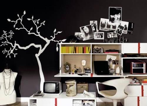 手绘背景墙 创意墙面居室美学