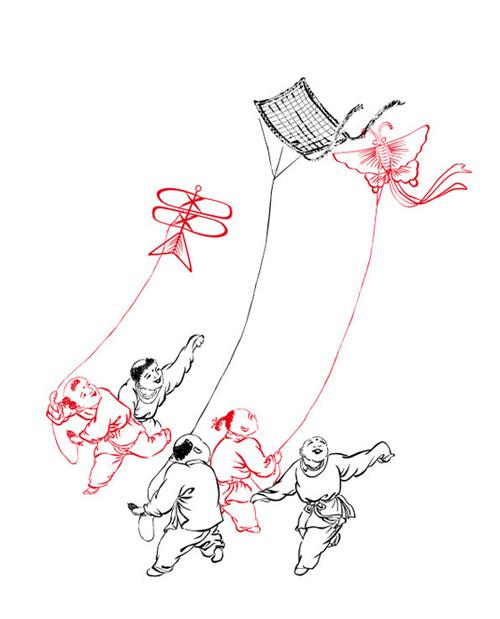 纸折圆形灯笼步骤图解