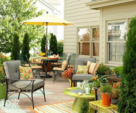 花园休闲区布置 轻描淡写小悠闲图片